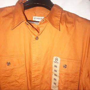 Magellan fishing outdoor orange polo men's shirt